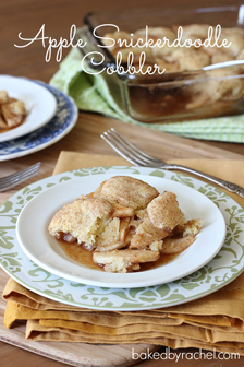 Apple Snickerdoodle Cobbler
