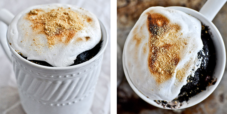 5-Minute-Chocolate-Fudge-S'mores-Mug-Cake
