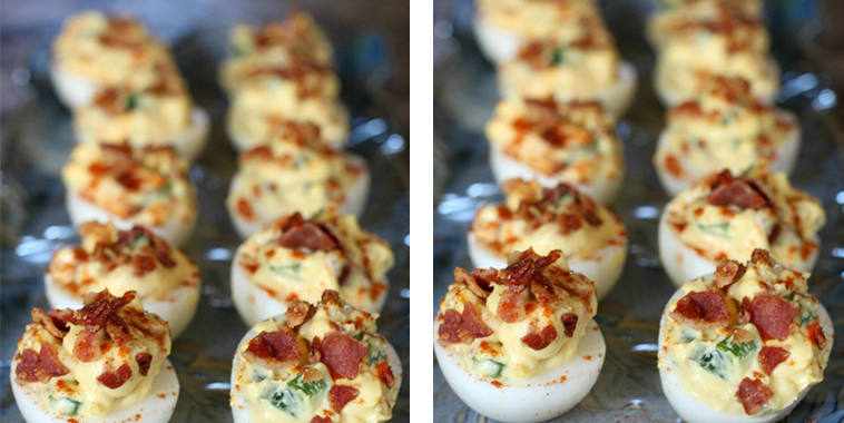 Bacon Jalapeño Deviled Eggs