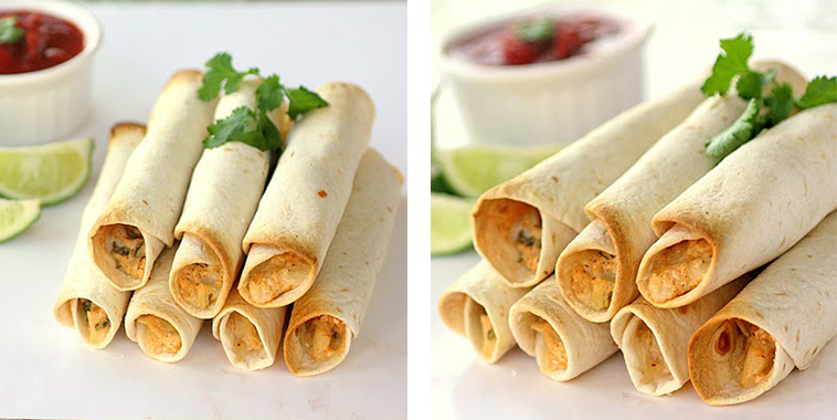 Baked-Creamy-Chicken-Taquitos-