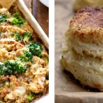 Creamy-Chicken-Quinoa-and-Broccoli-Casserole-&-Easy-Sour-Cream-Biscuits