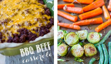 Dinner-Tonight--Cheesy-BBQ-Beef-&-Biscuit-and-Lemon-Rosemary-Coconut-Oil-Roasted-Vegetables