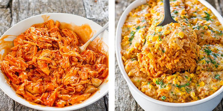 Chicken-Enchilada-Rice-Casserole