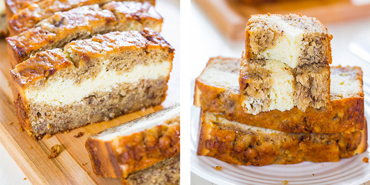 Cream-CheeseFilled-Banana-Bread
