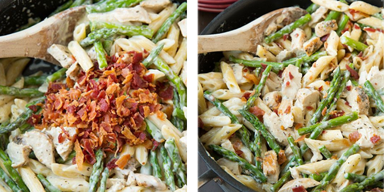 Creamy-Chicken-and-Asparagus-Pasta-with-Bacon