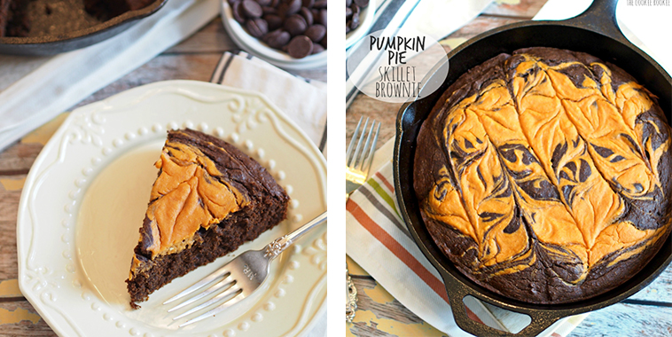 Pumpkin-Pie-Skillet-Brownie