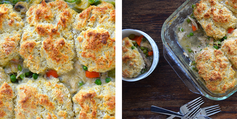 Turkey Potpie With Cheddar Biscuit Crust Recipe — Dishmaps