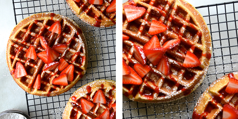 Buttermilk-Waffles-with-Fresh-Strawberry-Syrup