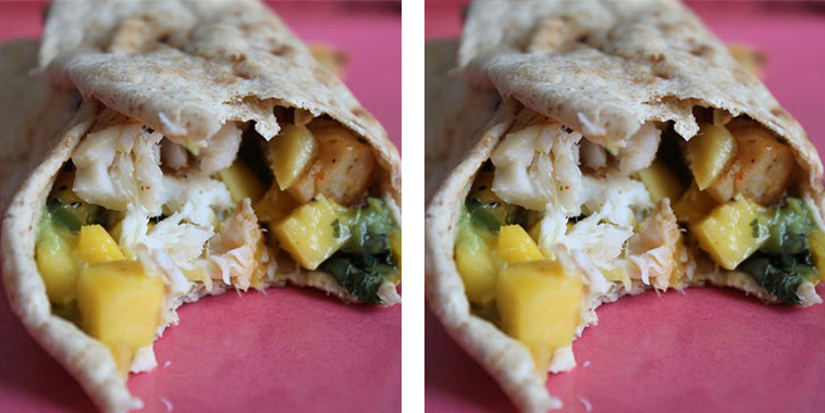 Tilapia-Wrap-With-Mango-Salsa-and-Guacamole