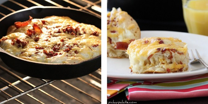 """Easy"""" Cheesy Bacon Biscuit Pull-Aparts"""